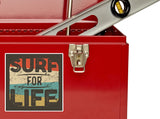 2 x Surf For Life Vinyl Stickers Travel Luggage #10273