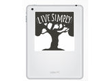 2 x Live Simply Vinyl Stickers Travel Luggage #10290