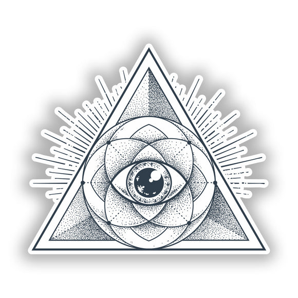 2 x All Seeing Eye Vinyl Stickers Travel Luggage #10292