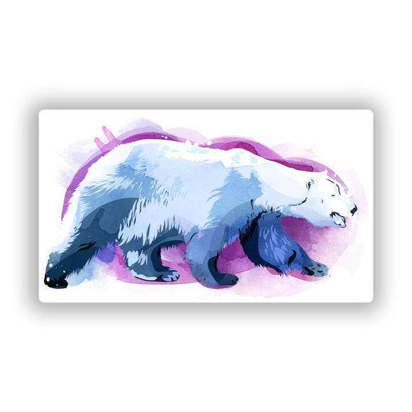 2 x Polar Bear Vinyl Stickers Travel Luggage #10294