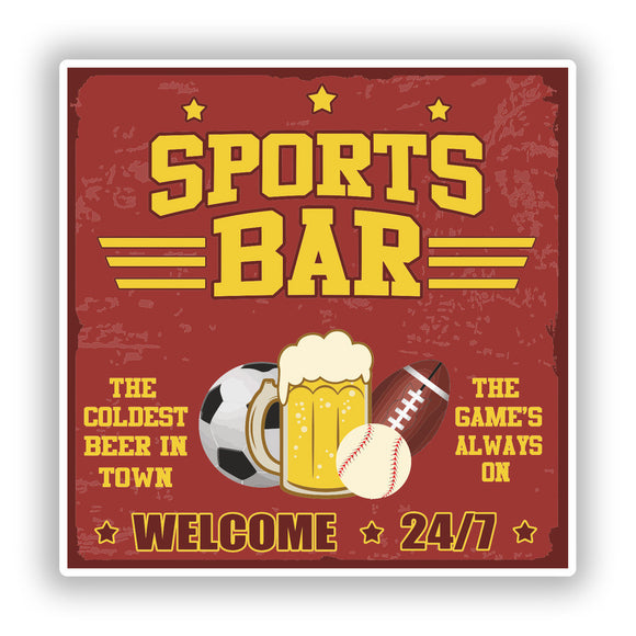 2 x Sports Bar Vinyl Stickers Travel Luggage #10295