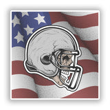 2 x Amarican Footbal Skull Vinyl Stickers Travel Luggage #10302