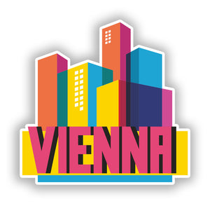 2 x Vienna Skyline Vinyl Stickers Travel Luggage #10312