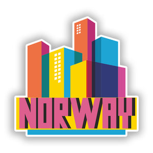 2 x Norway Skyline Vinyl Stickers Travel Luggage #10319