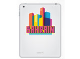 2 x Bahrain Skyline Vinyl Stickers Travel Luggage #10321