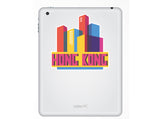 2 x Hong Kong Skyline Vinyl Stickers Travel Luggage #10322