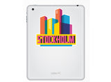 2 x Stockholm Skyline Vinyl Stickers Travel Luggage #10323