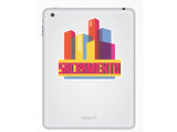 2 x Sacramento Skyline Vinyl Stickers Travel Luggage #10329