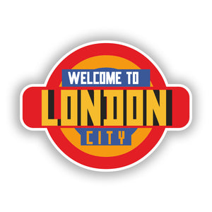 2 x Welcome to London Vinyl Stickers Travel Luggage #10334