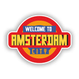 2 x Welcome to Amsterdam Vinyl Stickers Travel Luggage #10337