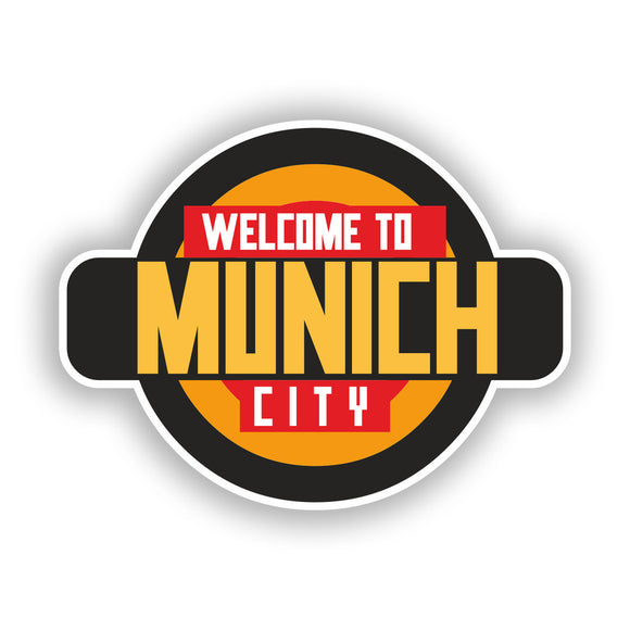 2 x Welcome to Munich Vinyl Stickers Travel Luggage #10339