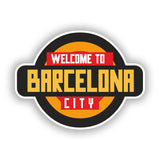 2 x Welcome to Barcelona Vinyl Stickers Travel Luggage #10342