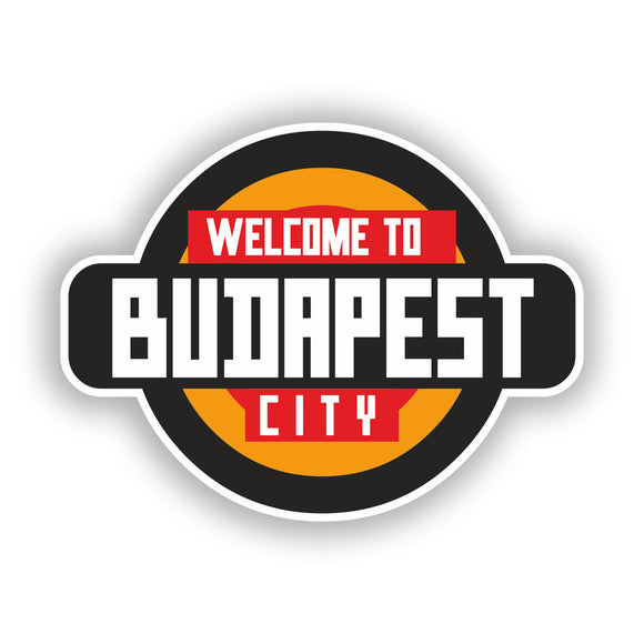 2 x Welcome to Budapest Vinyl Stickers Travel Luggage #10343