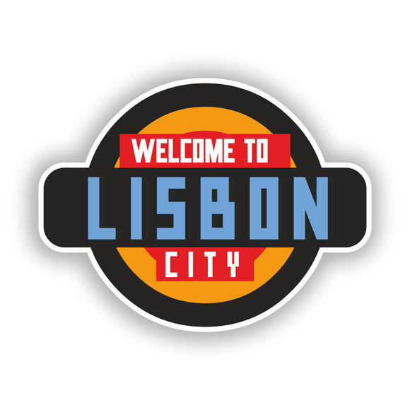 2 x Welcome to Lisbon Vinyl Stickers Travel Luggage #10345
