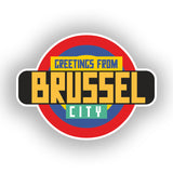 2 x Greetings from Brussel Vinyl Stickers Travel Luggage #10347