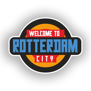 2 x Welcome to Rotterdam Vinyl Stickers Travel Luggage #10348