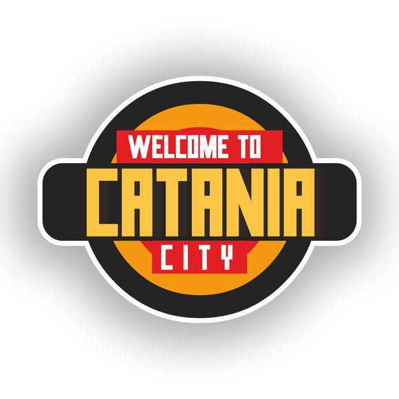 2 x Welcome to Catania Vinyl Stickers Travel Luggage #10349