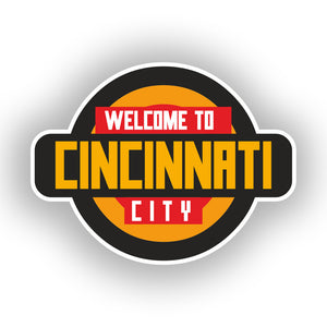 2 x Welcome to Cincinnati Vinyl Stickers Travel Luggage #10350