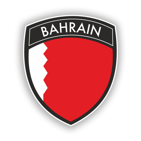 2 x Bahrain Badge Vinyl Stickers Travel Luggage #10411