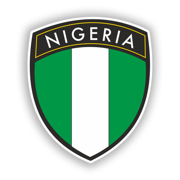 2 x Nigeria Badge Vinyl Stickers Travel Luggage #10413