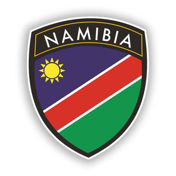 2 x Namibia Badge Vinyl Stickers Travel Luggage #10420