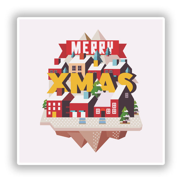 2 x Merry Xmas Vinyl Stickers Decoration Window Sticker #10433