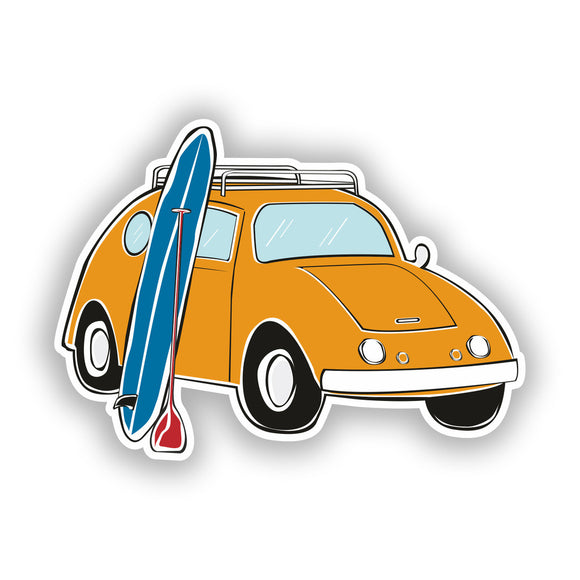 2 x Surfing Camper Van Vinyl Stickers Travel Luggage #10434