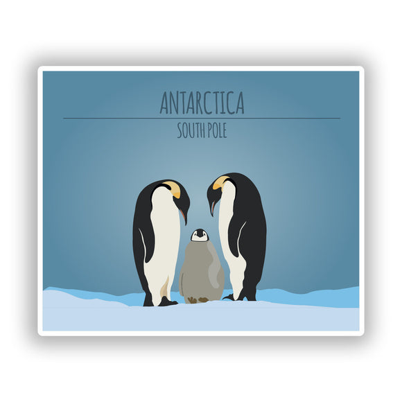 2 x Antarctica South Pole Vinyl Stickers Travel Luggage #10435