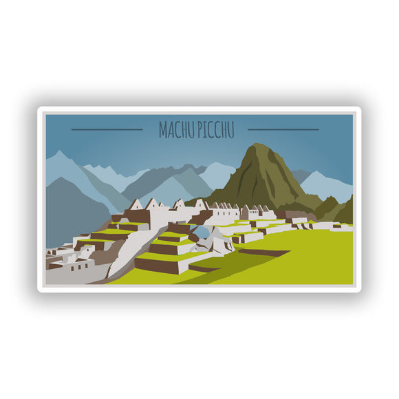 2 x Machupicchu Vinyl Stickers Travel Luggage #10449