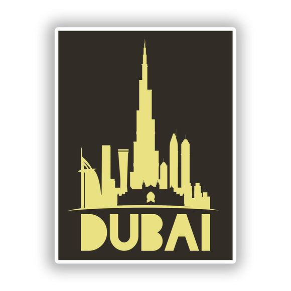 2 x Dubai Vinyl Stickers Travel Luggage #10451