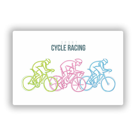 2 x Cycling Vinyl Stickers Travel Luggage #10490
