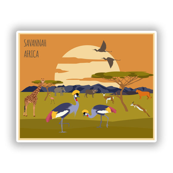 2 x Savannah Africa Vinyl Stickers Travel Luggage #10491