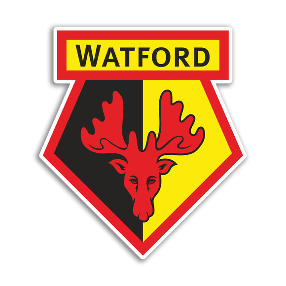 2 x Watford Football Club Vinyl Stickers Premier League #10865L