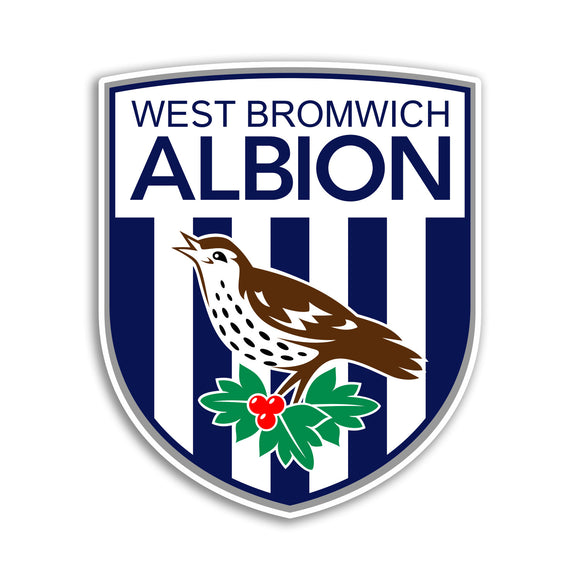 2 x West Bromwich Albion Football Club Vinyl Stickers Premier League #10866L