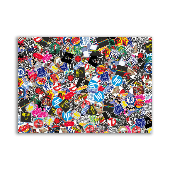 Sticker Bomb Sheet Vinyl Wrap Car Bike Scooter Laptop Skate #10913