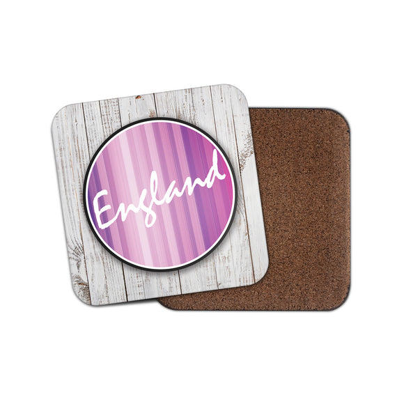 England Cork Backed Drinks Coaster for Tea & Coffee #10916