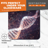 Great Coasters (Set of 2) Square / Glossy Quality Coasters / Tabletop Protection for Any Table Type - DNA Double Helix Genetics Science  #16315
