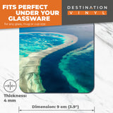 Great Coasters (Set of 2) Square / Glossy Quality Coasters / Tabletop Protection for Any Table Type - Great Barrier Reef Australia  #3324