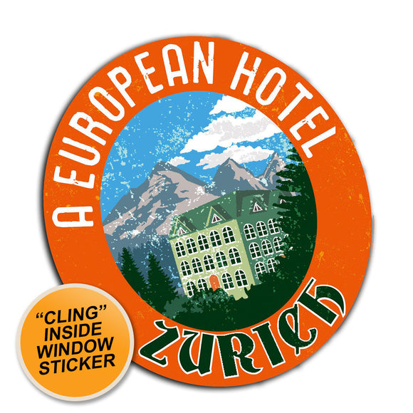 2 x Zurich Ski Travel Logo WINDOW CLING STICKER Car Van Campervan Glass #4004