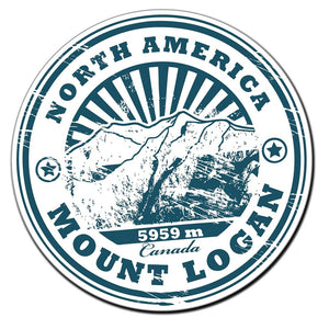 2 x North America Mount Logan Vinyl Sticker #4018