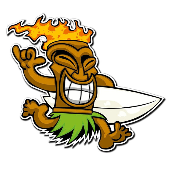 2 x Tiki Surf Hawaii Aloha Vinyl Sticker #4026