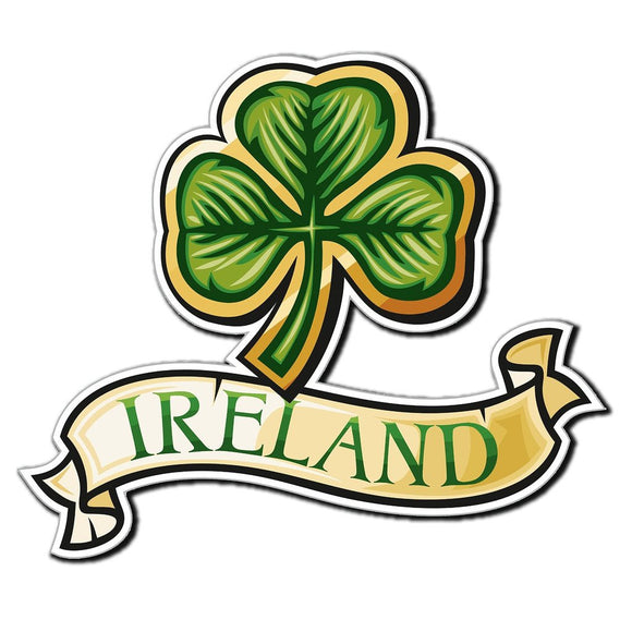 2 x Ireland Clover Lucky Irish Car Vinyl Sticker #4031