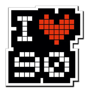 2 x I Love 90 90's Heart Car Vinyl Sticker #4039