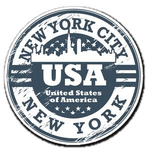 2 x New York USA Car Vinyl Sticker #4045