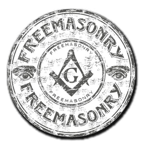 2 x Freemason Mason Masonic Vinyl Sticker #4055