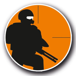 2 x Paintball Army Gun Forces Vinyl Sticker #4056