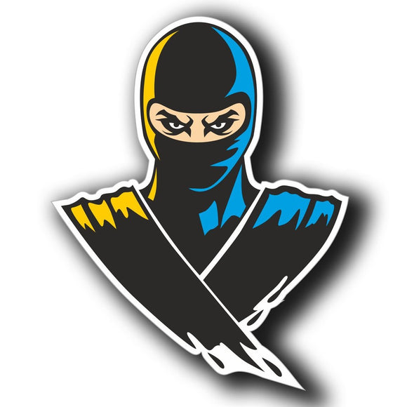 2 x Ninja Warrior Motorbike Vinyl Sticker #4065