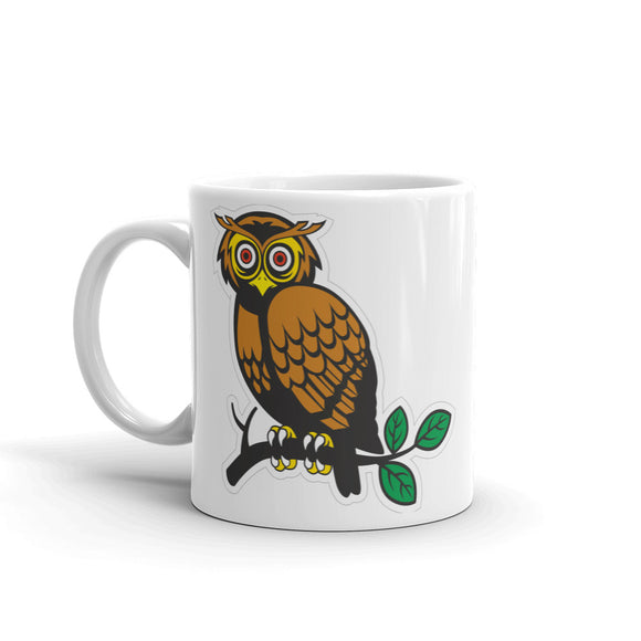 Owl on Branch High Quality 10oz Coffee Tea Mug #4070