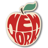 2 x New York Big Apple Vinyl Sticker #4071