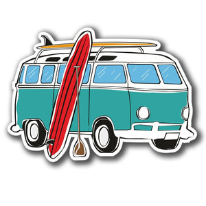2 x Camper Van Surf Surfer Vinyl Sticker #4074